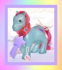 ❤️My Little Pony MLP G1 Vtg Sparkle Ponies Sky Rocket & Original Brush, Ribbon❤️
