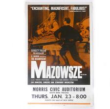 "Original MAZOWSZE Dance Morris Civic Show Ad Artcraft Litho Poster 22.10"""