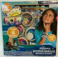 Disney's Moana Wooden Bangles Bracelet Activity Set