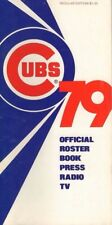 1979 Chicago Cubs Official Roster Book Press TV Radio Media Guide VG+ or Better