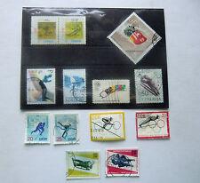 Briefmarken 13 x Wintersport Sport Ski, Bob, Olympia, Europa, DDR, Canada, USA
