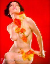 1968 Original 16x20 ASIAN FEMALE NUDE Flowers Japan Photo By SUSUMU MATSUSHIMA