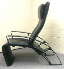RARE COLLECTIBLE 1984 SIGNED PORSCHE IP84S RECLINING LEATHER LOUNGE CHAIR CHAISE