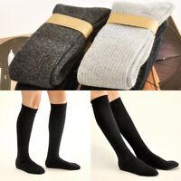 1 Pair Women Winter Warm Wool Stockings Soft Knit Crochet Long Knee-high Socks