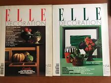 ELLE DECORATION ANNATA  1995 - N. 2 RIVISTE N.53-54