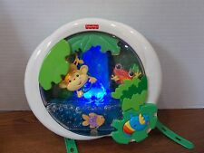 Fisher Price Rainforest Waterfall Crib Soother Baby Music Jungle Monkey Frog