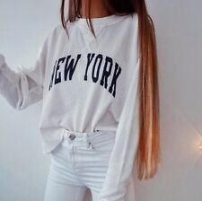 New! Brandy Melville White Waffle long sleeve Laila New York thermal top NWOT