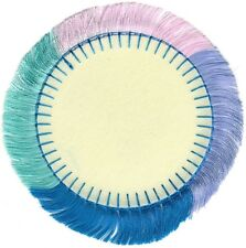 "3.5"" Blank Circle Fringe Embroidery Patch"