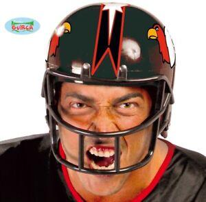 Mens American Football Fancy Dress Helmet Black New fg.