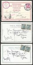 Austrian Levant covers 3 PPCs Constantinople to Trento and Essex(2x) VF