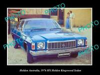 LARGE HISTORIC PHOTO OF GM HOLDEN, THE 1976 HX HOLDEN KINGSWOOD PRESS PHOTO