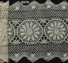 "Crochet Lace Placemat Table Runner 14x20"",14x36"", 14x54"", 14x72"" Beige or White"