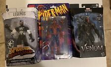 Marvel Legends LOT VENOMIZED CAPTAIN AMERICA RETRO SPIDER-MAN MOVIE VENOM