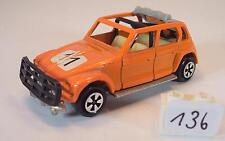 Majorette 1/60 Nr. 231 Citroen Dyane Rallye orange Startnummer 11 #136