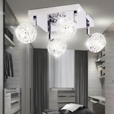 Design Chrom Decken Lampe Leuchte Wohn Schlaf Ess Zimmer Beleuchtung Küche Flur