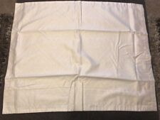 "Royal Velvet Button Closure King Pillow Sham 21""x37 Cream"
