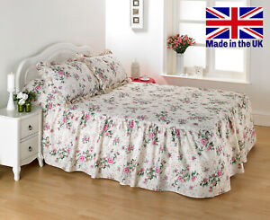 DIANA COWPE *Luxury Traditional Quilted Bedspread Set* - Rosegarden Print Floral