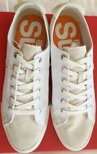 Superdry Men's Beige Canvas Sneakers with Rubber Sole Size US 12