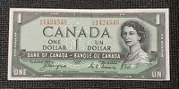 Canada 1954 Coyne Towers BC-29a $1.00 Banknote HA 1424546 Devil's Face EF