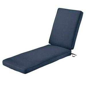 Classic Accessories Montlake Water-Resistant 80 x 26 x 3 Inch Patio Chaise Loung