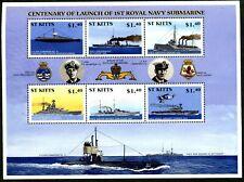 St Kitts 2001 Centenary of Royal Navy Submarine Service (MNH)