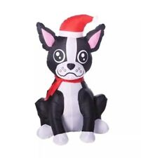 Boston Terrier Gemmy Airblown Inflatable Puppy Dog 3.5Ft Christmas New In Box!