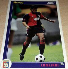 CARD SCORE 1993 CAGLIARI NAPOLI CALCIO FOOTBALL SOCCER ALBUM