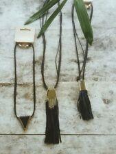 Leather Statement Fashion Necklaces & Pendants