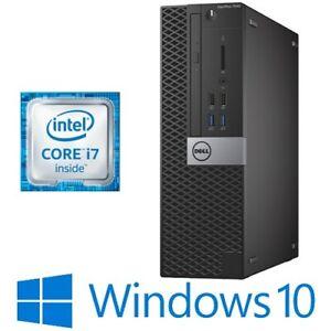 Dell Optiplex 7040 SFF Intel i7 6700 16G 256G/512G/1TB NVMe SSD HDMI Win 10 Pro