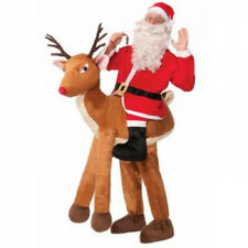 Santa on Reindeer Adult Costume One-Size Red One-Size. Forum Novelties