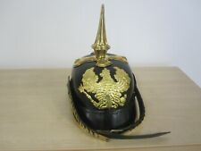 More details for ww1 german prussian pickelhaube with cruciform base - repro helmet army soldier