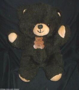 "17"" VINTAGE DAN DEE DARK BROWN BABY TEDDY BEAR STUFFED ANIMAL PLUSH TOY W/ TAG"