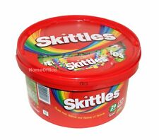 Tub Of Skittles Bag Flavoured Fruit Candy 29 Fun Size Bags best before 03/08/201
