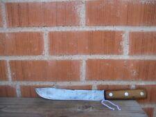 "Vintage 8"" Blade *** ROBESON - Shur Edge *** Carbon Steel Butcher Knife NY USA"