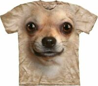 The Mountain Big Face Chihuahua Face Adult Unisex T-Shirt