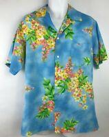 Vintage Men's Hilo Hattie Aloha Hawaiian Floral Print Shirt