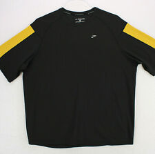 BROOKS RUNNING ATHLETIC COLORBLOCK Black Yellow T-SHIRT MEN'S L LARGE