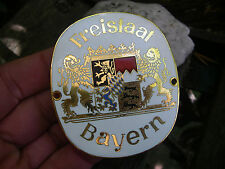FREISTAAT BAYERN-bavaria armoiries-Belle EMAILLEE EMAUX Voiture Plaque car badge
