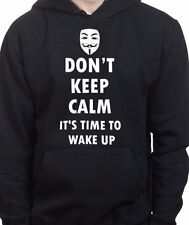 Don't Keep Calm It's time to wake up Anonymous Hoodie Hooded Sweatshirt shirt