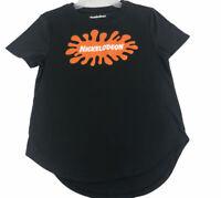 Nickelodeon Women's Juniors T Shirt Size L 11-13 Splat Logo Black