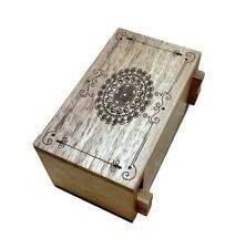 Secret Lock Box Puzzle box with Mandala laser artwork