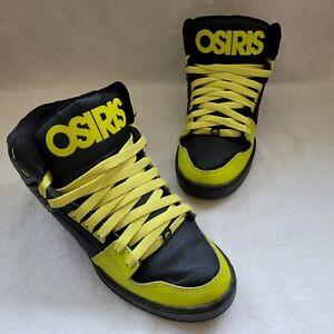 Osiris NYC 83 Skate Shoes Neon Volt Green Yellow Black Very Nice Bright SZ 11