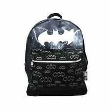 Batman Bat-Signal Roxy Backpack School Bag - DC Comics Black Logo