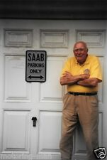Eric Carlsson a casa SAAB fotografia di Tony Mason RALLY
