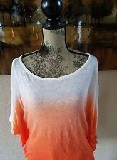 Lau Ralph Lauren Women's Linen Ombre Poncho Top Cabana Orange Sz XXL THESPOT917