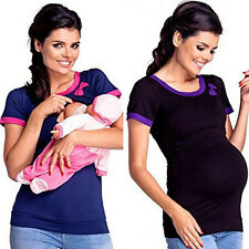 Silm Maternity Clothes or Pregnant Women Nursing Tops Breastfeeding T-Shirt