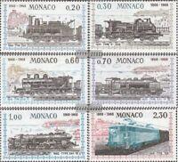 Monaco 896-901 (kompl.Ausg.) postfrisch 1968 Eisenbahn