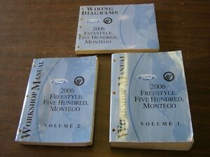 OEM Ford 2006 Freestyle Five Hundred Shop Manuals Books Wiring Diagram nos