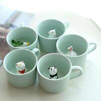 3D Tiere Tasse Kaffee Milch Wasser Becher Keramik Karikatur Tee Cup Neuheit Neu