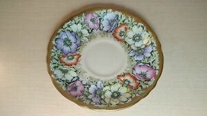 Vintage Paragon Poppy Anemone Double Warrant Saucer Only - England Bone China